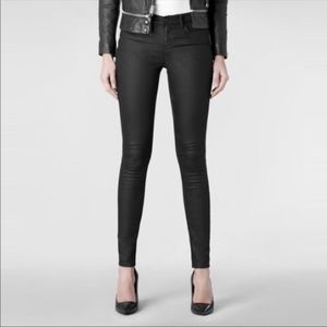 All Saints Prette Ashby Low rise coated Skinny
